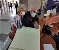 سفيرا جنوب أفريقيا وأورجواي يزوران متحف الحضارة وينبهران بكنوزه الأثرية