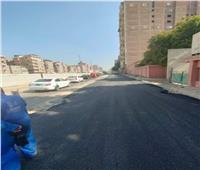 استئناف أعمال رصف شوارع العمرانية بالجيزة