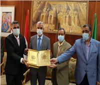 رئيس جامعة المنوفية يستقبل اللجنة العلمية الدائمة بالمجلس الأعلى للجامعات ..صور