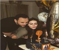 أحمد خالد صالح يحتفل بعيد ميلاد زوجتة هنادي مهنة