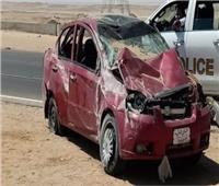 إصابة عامل وزوجته في حادث انقلاب سيارة ملاكي ببني سويف