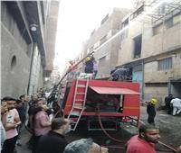 صور  حريق يلتهم محتويات مصنع منسوجات بشبرا.. ولا خسائر في الأرواح