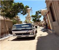 رئيس مدينة المنيا يوجه بإنارة عدد من الأماكن تلبية لمطالب الأهالي