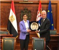 رئيسة وزراء صربيا تستقبل محافظ جنوب سيناء بمقر رئاسة الوزراء في بلجراد