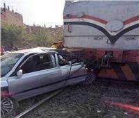 مصرع ٣ أشخاص في تصادم قطار بسيارة ملاكي في الدقهلية