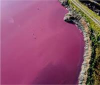 سر تحول مياه بحيرة أرجنتينية إلي اللون الوردي