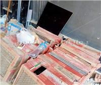 ضبط أعمال إنشاءات داخلية مخالفة داخل محل تجاري بالوراق في الجيزة