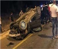 مصرع وإصابة ٣ أشخاص فى انقلاب سيارة ملاكى بصحراوي البحيرة