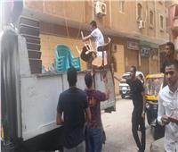 حملة إشغالات على شارع 10 في بولاق الدكرور بالجيزة.. صور