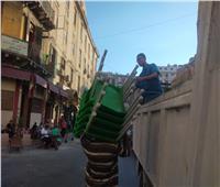 حملات مكبرة لإزالة اشغالات الطريق  بالاسكندرية