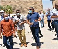 وزير السياحة في الأقصر لمتابعة افتتاح طريق الكباش قريبا.. صور