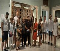 بالصور| إقبال سائحين من جنسيات مختلفة لمتحف الإسكندرية القومي