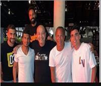 عمرو أديب في معسكر الزمالك مع أيمن يونس