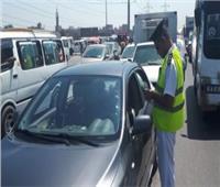 حملات مرورية على الطرق السريعة لضبط المواقف عشوائية
