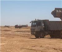 استكمال أعمال رصف أكبر طريق خرساني «سيوة - مطروح»