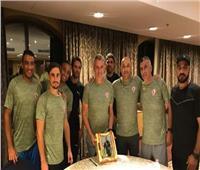 لاعبو الزمالك يحتفلون بعيد ميلاد «كارتيرون»
