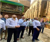 نائب محافظ القاهرة يتفقد منطقة الحسين ضمن تطوير القاهرة التاريخية