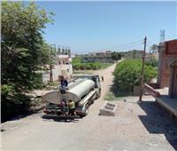 أهالي «كفر صقر» بالشرقية يعانون من انقطاع مياه الشرب| صور