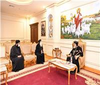 البابا تواضروس يستقبل الأنبا دوماديوس