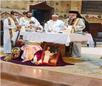 الأنبا باسيليوس يحتفل بذكرى وفاة مؤسس الرهبنة
