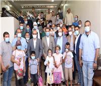 عودة الابتسامة لـ٣٠ طفلاً ليبياً بعد إجرائهم عمليات جراحية بجامعة أسيوط