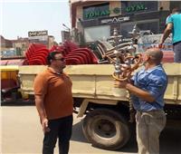 تحرير8 محاضر عدم إرتداء كمامة ومصادرة 25 «شيشة» بالبحيرة