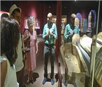 سياح بلجيكيين يعبرون عن سعادتهم بروعة متحف الغردقة