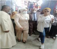 محافظة القاهرة تطمئن على وسائل الحماية داخل سوق توشكا بحلوان