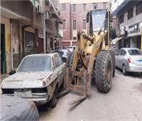 «الأوناش» ترفع 46 سيارة ودراجة نارية متهالكة من الشوارع والميادين