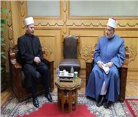 وكيل الأزهر يستقبل رئيس المشيخة الإسلامية بألبانيا لبحث التعاون المشترك