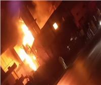السيطرة على حريق بمضرب أرز على الطريق الزراعي بدمنهور   صور