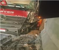 ننشر أسماء المصابين في حادث تصادم أتوبيس عمال وسيارة نقل بالسويس
