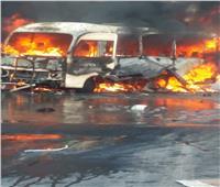 مقتل شخص وإصابة 3 بانفجار حافلة عسكرية في دمشق| صور