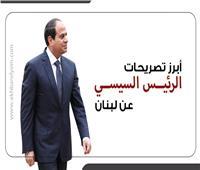 إنفوجراف  أبرز تصريحات الرئيس السيسي في المؤتمر الدولي لدعم الشعب اللبناني