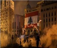 محتجون يضرمون النار عند مدخل البرلمان اللبناني