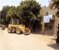 إزالة 13 حالة إشغال طريق ورفع 12 طن مخلفات وتهذيب الأشجار بالمنيا