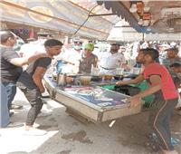 إزالة الإشغالات أمام محطة مترو شبرا الخيمة