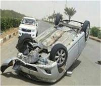 بالأسماء| إصابة 4 أشخاص في انقلاب سيارة بطريق «وادي النطرون»
