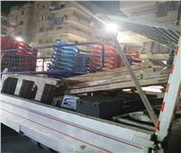 رفع ٢٨٨ حالة إشغال طريق مخالفة بمركزي دمنهور ورشيد بالبحيرة