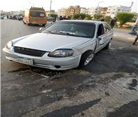 إصابة شخصين في تصادم سيارتين بطريق السويس - القاهرة
