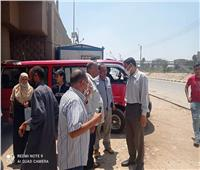 رئيس مدينة المنيا يوجه بضبط السيارات المخالفة لخطوط السير