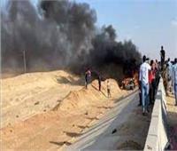 إصابة 3 في انقلاب سيارة على طريق السويس - القاهرة