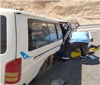 إصابة 9 عمال في حادث بطريق الجلالة