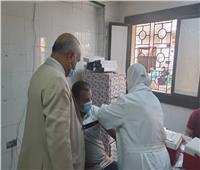 وكيل صحة الغربية يتابع تطعيم المواطنين المسافرين للخارج