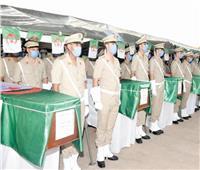 الجيش الجزائري يشيع «شهداء الحرائق»