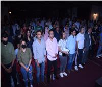 أشرف زكي وأحمد سلامة في عرض «مسرحية الجريمة» بطولة راندا البحيري   صور