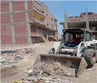 رفع ١٥٠ طن قمامة ومخلفات من مركز سمنود في الغربية