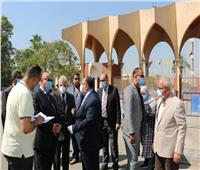 محافظ القاهرة يتفقد المنشآت الجديدة بجامعة حلوان