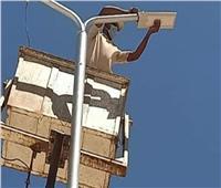 حملة صيانة وإصلاح أعمدة الإنارة وتركيب كشافات بمركز قطور بمحافظة الغربية