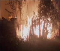 السيطرة على حريق هائل في حظيرة مواشي و 3 منازل في بني سويف